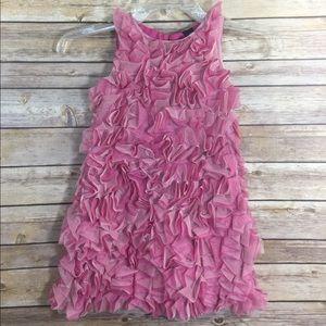 BabyGap Pink Ruffled Dress - Size 4 Toddler